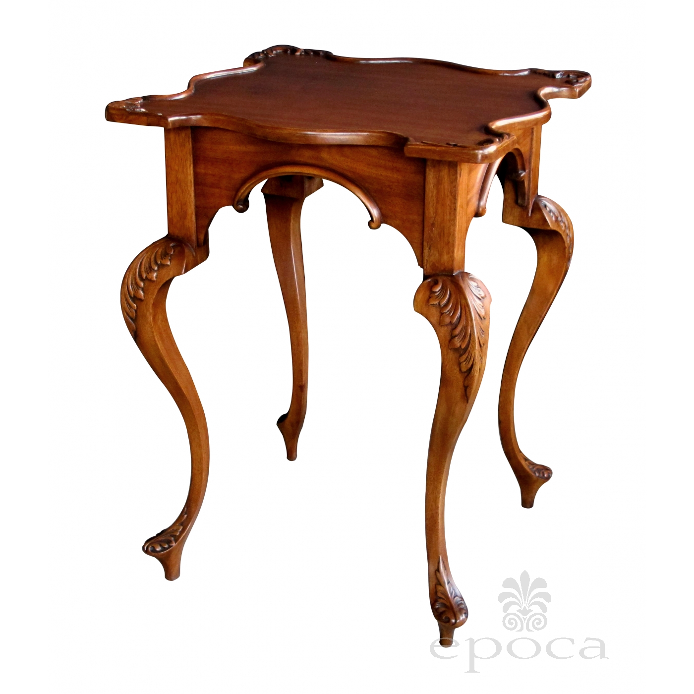 A Graceful English George Ii Style Carved Mahogany Side
