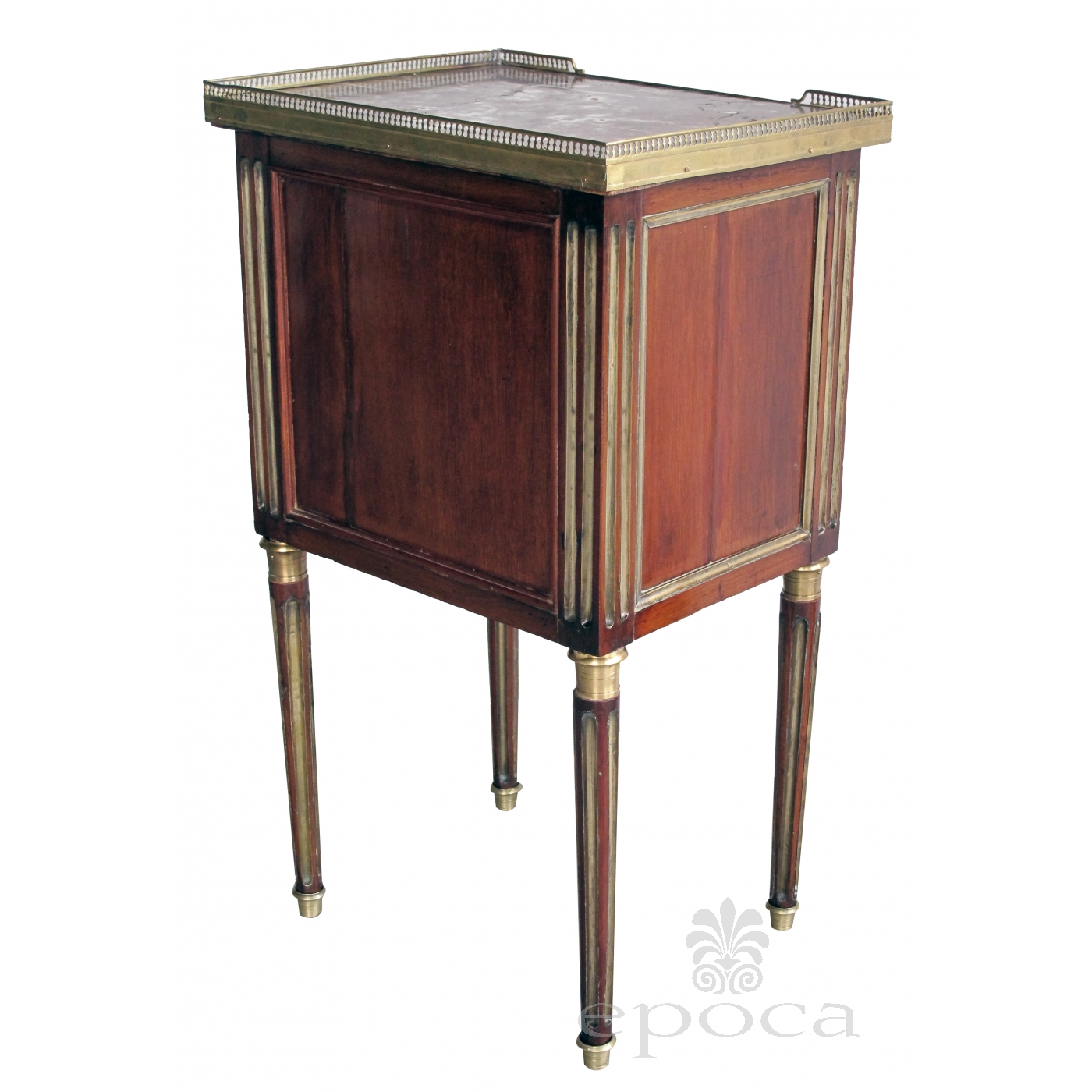 Merveilleux ... A Good Quality French Louis XVI 3 Drawer Mahogany Commode With Marble  Top And Gilt ...
