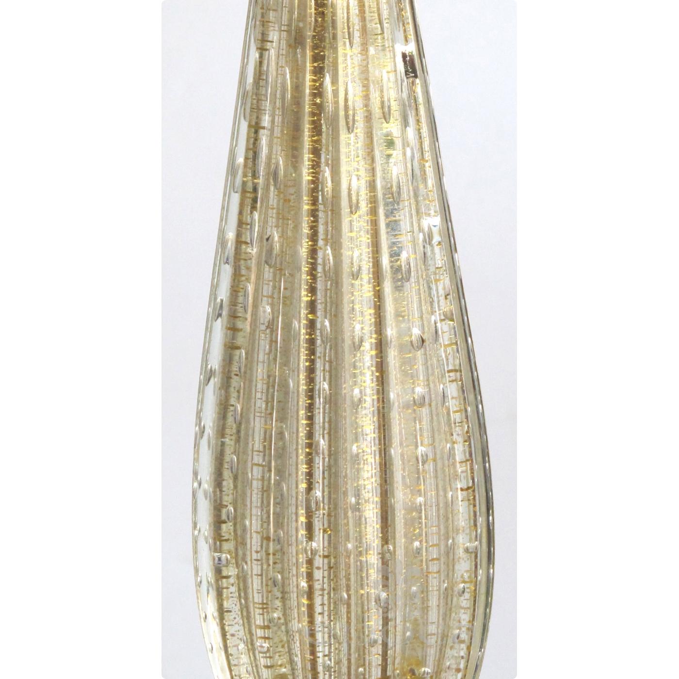 lamp a tall and slender murano 1960u0027s gold aventurine art glass