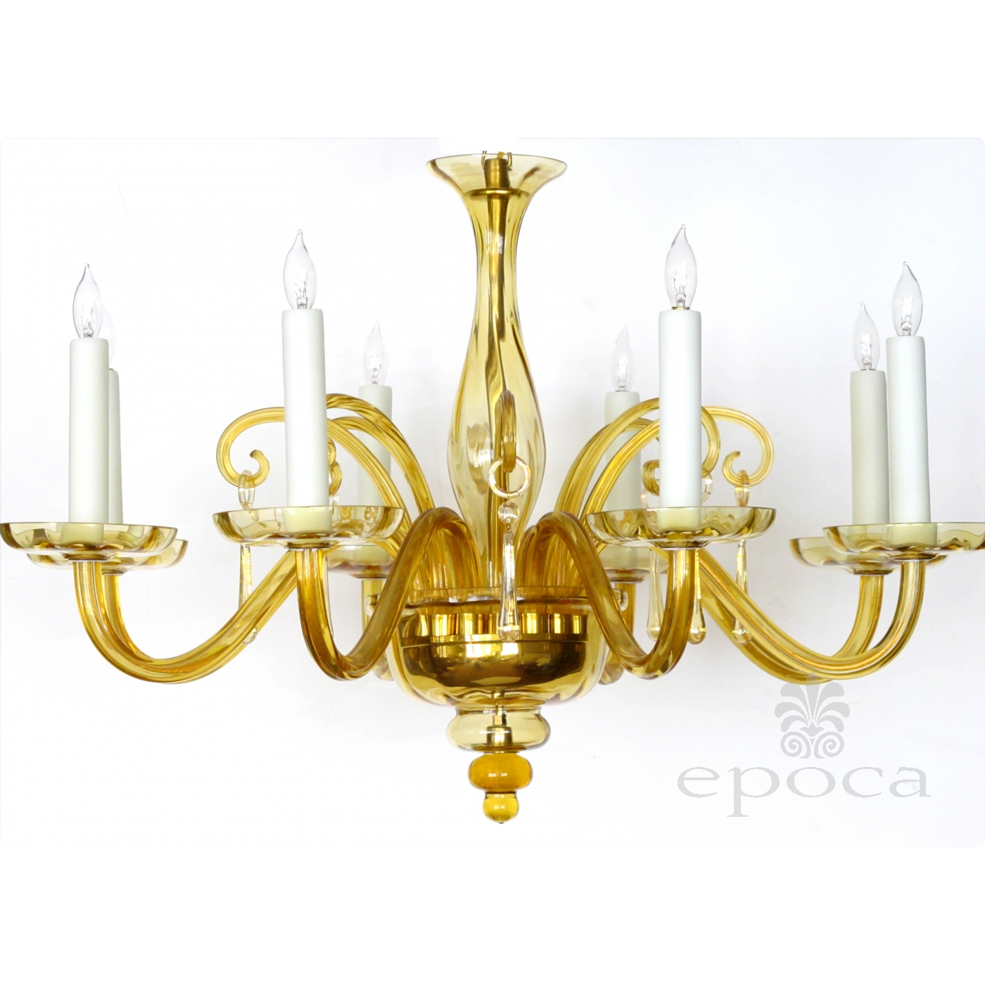 a richly colored murano 1960 s butterscotch glass 6 light