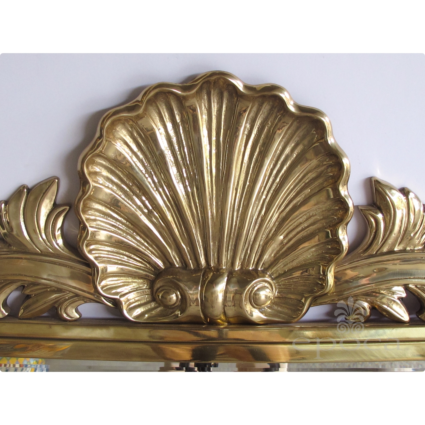 A Good Quality Italian Hollywood Regency Solid Brass Mirror