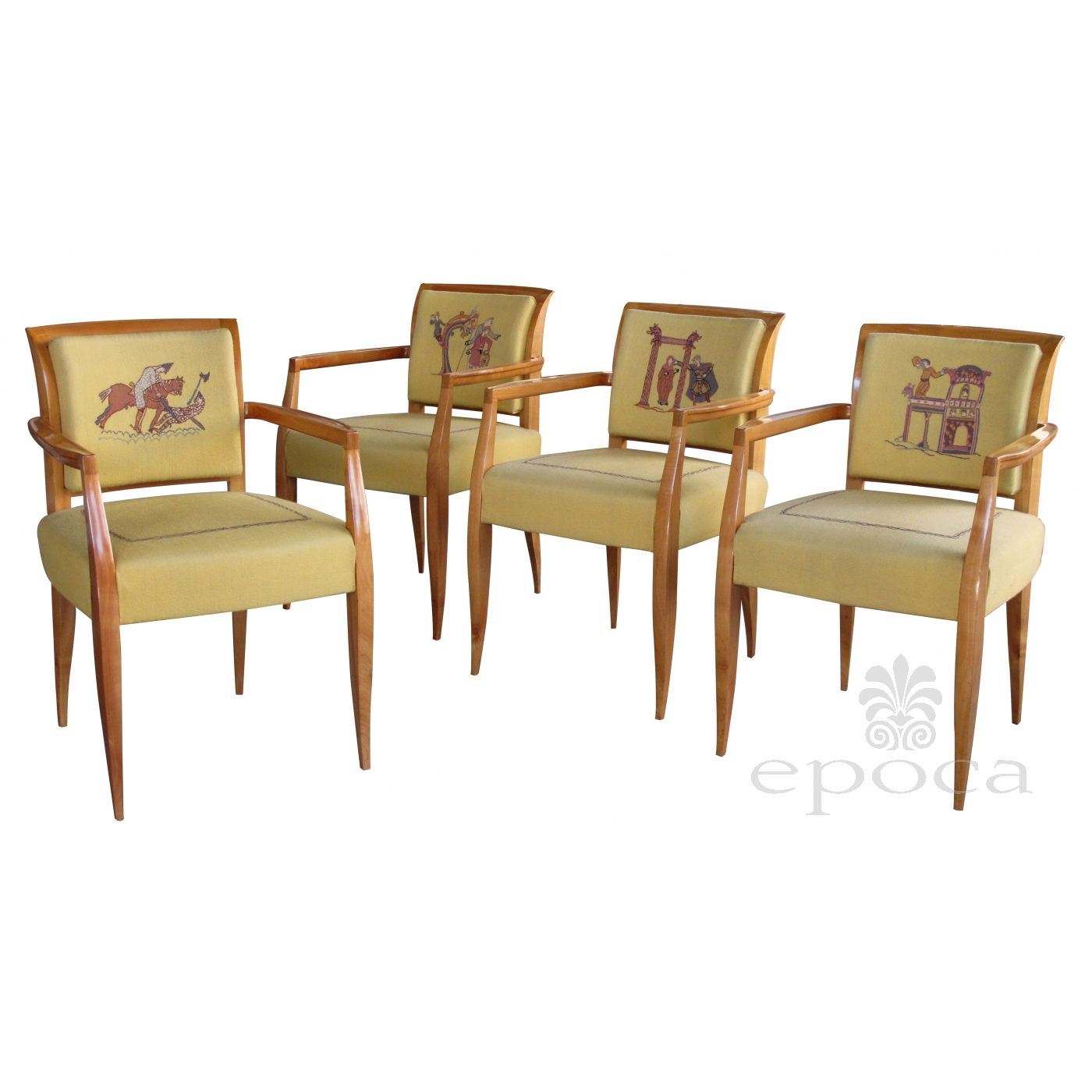 rare and chic set of 4 french maurice dufrene 1940 s sycamore game