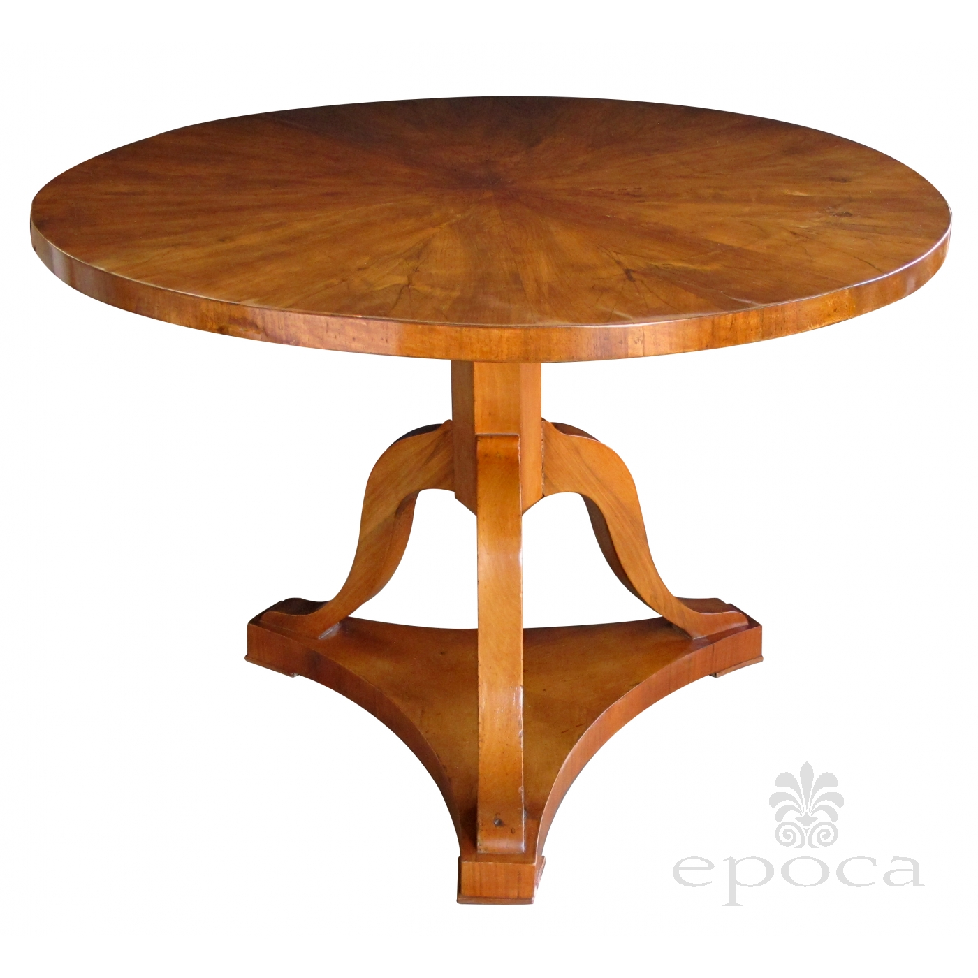 Handsome And Warmly Patinated Austrian Biedermeier Walnut Center Table