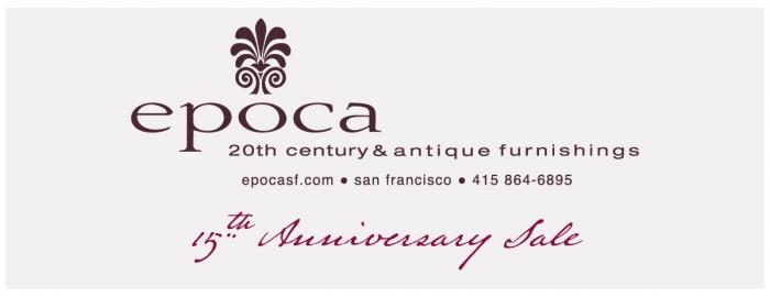 epoca's 15th Anniversary Sale