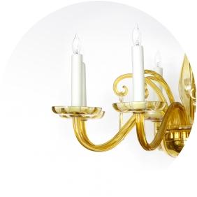 fall chandeliers at epoca - butterscotch murano