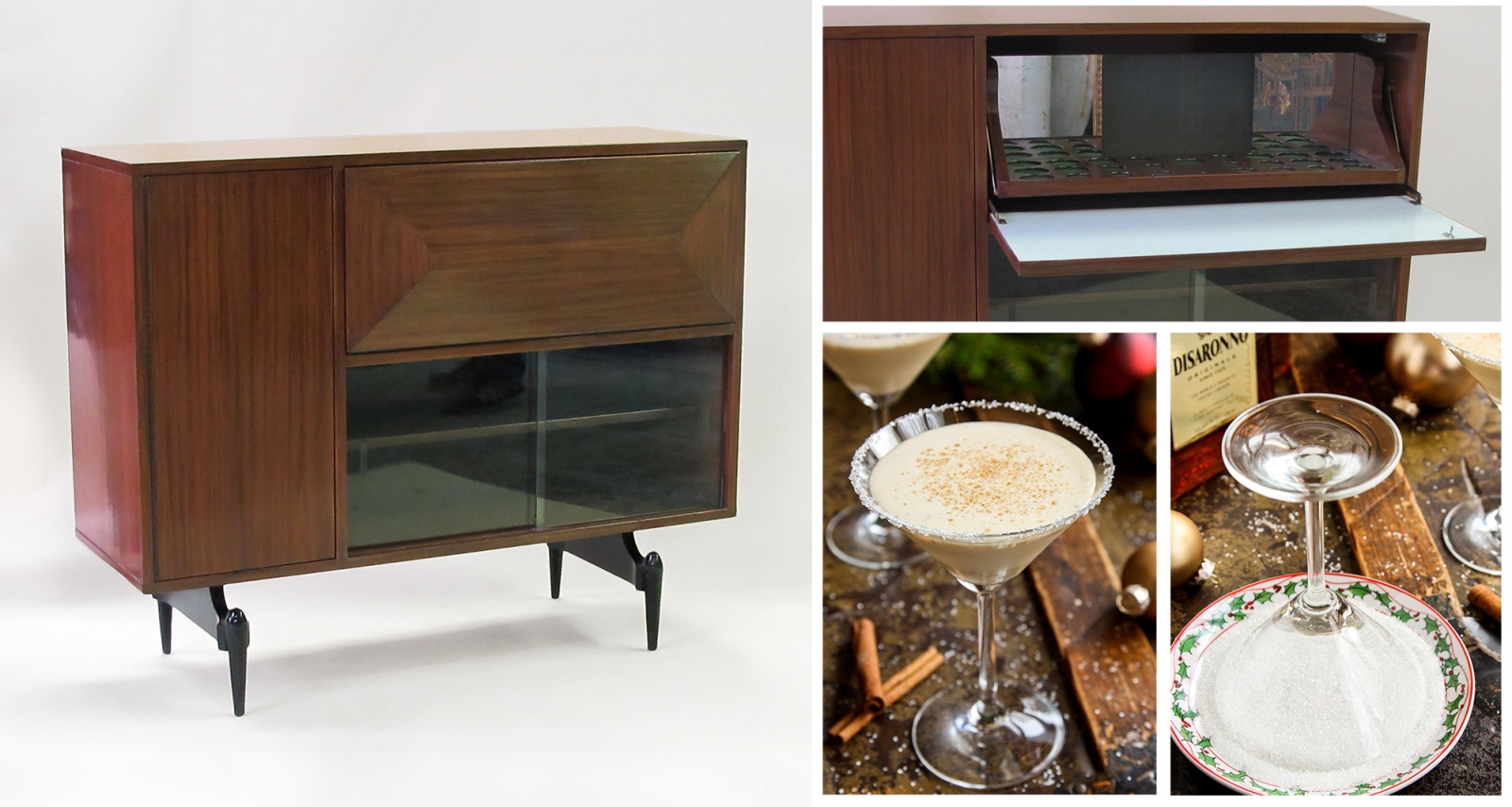 epoca American 1950's Drop-Front Bar for Stylish Holidays Entertaining