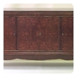 chic and superb quality french moderne 1940's amboyna and mahogany 4-door sideboard/buffet/credenza in the manner of Jules Leleu