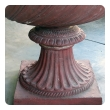 stunning english neoclassical style terra cotta garden urn with mask handles