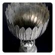 a stunningly large art deco style Piero Figura pewter centerpiece stamped 'Figura Piero per Atena, Etain 95%