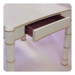 a stylish american 1970's Karl Springer style parchment-veneered faux bamboo game table