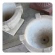 a handsome pair of cast stone garden urns