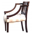 a handsome english george III Sheraton mahogany arm chair