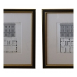 a handsome pair of american architectural engravings depicting taverns