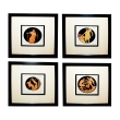a handsome  set of four of French stone lithographs of classical figures within black circular reserves