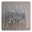 "pair of austrian 1960's clear ""ice block"" glass wall sconces; by J.T. Kalma"