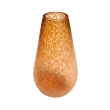 a luminous austrian apricot-colored oil spot vase of teardrop form