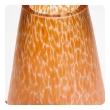 austrian apricot-colored oil spot vase of teardrop form