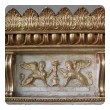 a regal and boldly-scaled swedish neoclassical ivory painted and parcel-gilt pier mirror