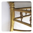 a charming napoleon III carved giltwood square stool