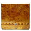 handsome swedish gustavian alder root parquetry 3-drawer chest