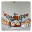 boldly-scaled continental polychromed faience baluster-form covered ginger jar