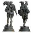 well-executed pair of english spelter figures of visigoth warriors