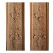 a finely carved pair of french classical-revival walnut boisserie panels