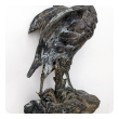 finely-rendered french spelter figure of a standing pheasant; after a sculpture by Paul Comolera 1818-1897; impressed signature 'P Comolera'