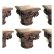 finely carved set of six english oak corinthian capitals; PRICED INDIVIDUALLY