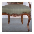 elegant and well-carved set of 4 french louis xv style walnut open arm chairs