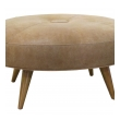 a handsome american mid-century heywood wakefield maplewood oval stool