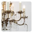 elegant italian 1960's hollywood regency 8-light gilt-tole chandelier