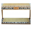 a french maison jansen neoclassical style 1940's eglomise console table