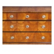 a handsome and well-figured austrian biedermeier cherry wood 3-drawer chest with ebonized highlights