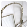 a chic and stylish french maison bagues 1940's chrome and glass faux bamboo magazine rack