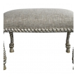 a stylish pair of american mid-century dorothy draper style silver-gilt rope-twist stools