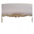 an elegant and well-carved french louis xv style ivory painted and silver-gilt bench
