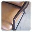 stylish danish modern Alf Svensson for Fritz Hansen 1960's stained teak 2-position reclining lounge chair