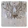 lustrous and graceful italian rococo style cage-form beaded 6-light chandelier with crystal pendants, flowers and swags