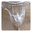 a well-carved mid-century venetian style painted and silver gilt bench with foliate and shell motif
