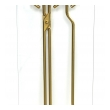 a stylish french 1960's gilt-metal and glass fire tool set in the manner of jacques adnet
