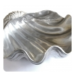 a large and finely detailed american aluminum clam shell by arthur court, san francisco; stamped 'arthur court 1988'