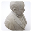 a well-carved american 19th century carrara marble bust of Robert G. Ingersoll