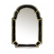 epoca san francisco a glamorous american hollywood regency 1960's silver giltwood mirror with black glass border