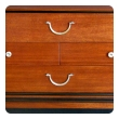 an extremely good quality Tommi Parzinger designed for Charak Modern mid-century mahogany 4-drawer cabinet/chest