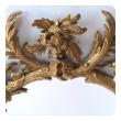 good quality english george II rococo giltwood oval foliate-carved mirror