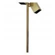 a sleek american 'Koch & Lowy'  3-light brass floor lamp