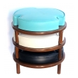 mod and fun american mid-century set of three round stackable stools
