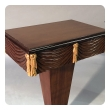 chic pair of Grosfeld House 1940's mahogany and parcel-gilt single-drawer pedestal tables