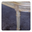 a shapely and elegant french louis xvi pale-green painted and silver-gilt recamier with caned back and seat
